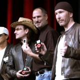 Jimmy Iovine, Bono, Steve Jobs and The Edge